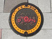 Manhole drain cover Stock Photo
