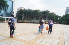 Manhole high school campus landscape Royalty Free Stock Image