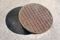 Manhole lid Stock Photo