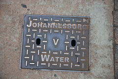 Manhole on the observation well construction to access undergrou. Nd water communications. Johannesburg, South Africa Stock Photos