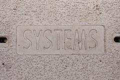 manhole okładkowi systemy Fotografia Royalty Free