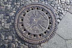 Manhole pokrywa fotografia royalty free