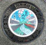 Manhole pokrywa, omi, Japonia Zdjęcia Stock
