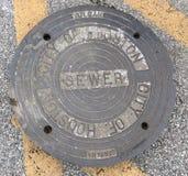 Manhole pokrywy Fotografia Royalty Free
