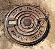 Manhole pokrywy Zdjęcie Stock