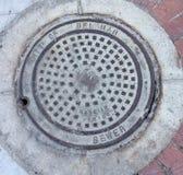Manhole pokrywy fotografia stock