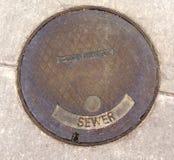 Manhole pokrywy Obrazy Royalty Free