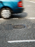 Manhole on the road Stock Photos