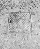 Manhole in Rome Stock Photo