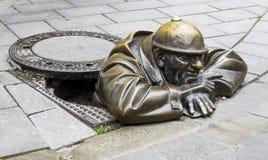Manhole rzeźba zdjęcie royalty free