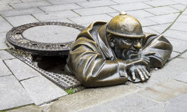 Manhole Sculpture Royalty Free Stock Photo