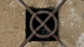 manhole stary Zdjęcia Stock