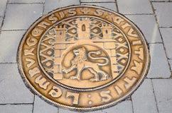 Manhole sztuka Zdjęcia Stock
