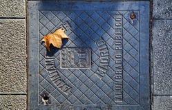Manhole stock image