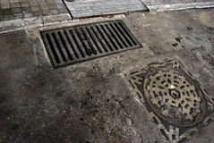 Manholes Stock Photography
