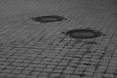manholes Image libre de droits