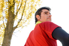 Manhood of handsome sportsman Royalty Free Stock Photography