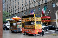HALAL FOOD VANDOR ON MANHATTAN NYC stock photo