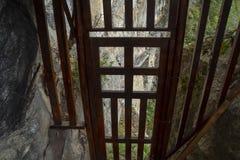 manière au dernier pont d'Inca, Machu Picchu au Pérou - ville perdue d'Incaway au dernier pont d'Inca, Machu Picchu au Pérou - vi photo stock