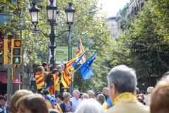 Manière catalanne, exigeant l'indépendance de la Catalogne Image libre de droits