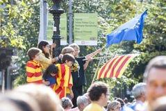 Manière catalanne, exigeant l'indépendance de la Catalogne Image stock