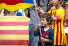 Manière catalanne, exigeant l'indépendance de la Catalogne Photos libres de droits