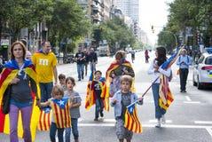 Manière catalanne, exigeant l'indépendance de la Catalogne Images stock