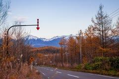 Manière d'aller biei Hokkaido Japon Photo libre de droits