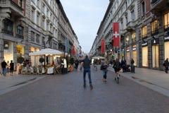 Manière de dante de Milan Photos stock