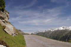Manière de montagnes Photo libre de droits