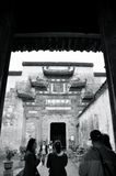 Manière de porte de village de Hongcun Photo stock