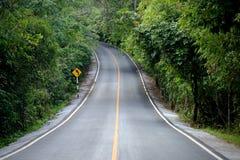Manière de route bétonnée de courbe Image libre de droits