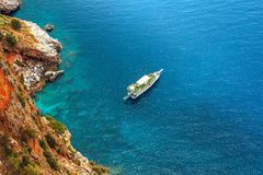 Manière de yacht photographie stock