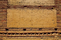 Manière des murs de boue d'adobe de St James à Palencia Images libres de droits