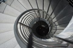 Manière en spirale d'escalier photographie stock