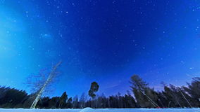 Manière laiteuse dans le ciel nocturne. Fisheye. Laps de temps clips vidéos