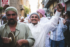 Manière Rifai Sufi Egypte de célébrations photographie stock