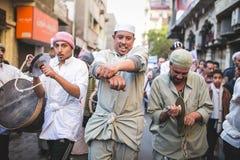 Manière Rifai Sufi Egypte de célébrations Photo stock