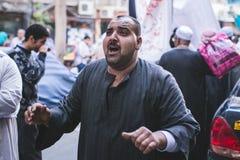 Manière Rifai Sufi Egypte de célébrations Images libres de droits