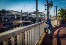 Manières de terminal de rail et de rail Photographie stock libre de droits