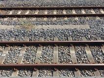 Manières parallèles de rail images stock