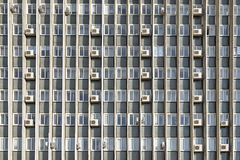 Mani air conditioners on the  wall of office building Royalty Free Stock Image