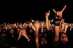 Mani aumentanti di fan su Immagini Stock