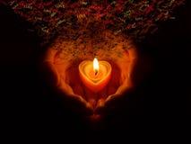 Mani brucianti con amore Immagine Stock