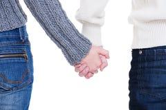 Mani care della holding delle coppie Fotografia Stock