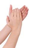 Mani che applaudono Immagine Stock