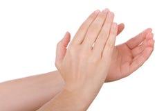 Mani che applaudono o che applaudono Fotografia Stock Libera da Diritti