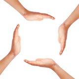 Mani che fanno cerchio Fotografia Stock Libera da Diritti