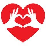 Mani che fanno figura del cuore royalty illustrazione gratis