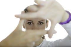 Mani che guardano struttura Immagini Stock